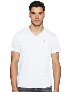 Picture of Woodland V-Neck T-Shirt LWTSV001A (White)