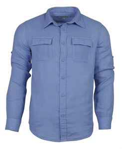 Picture of Woodland Shirt MFOS 24 (SBLUE WHITE)