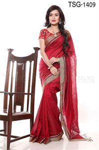 Picture of Silk & Cotton Mixed Saree - TSG-1409