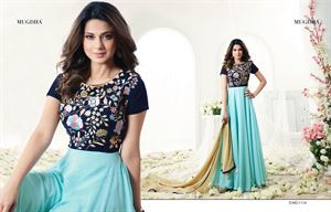 Picture of embroidery georgette Floor Length Anarkali Suit jenifar 024