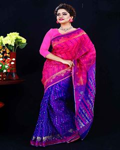 Picture of  Moslin Jamdani Saree -TSG-9317