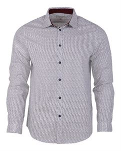 Picture of Woodland Shirt MFCS 81 (WHITE/WINE)