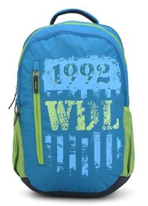 Picture of Woodland Backpack 142F12 (TURQUOISE/LIMEGREEN)