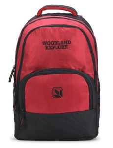 Picture of Woodland Backpack 136A82 (CRIMSON/BLACK)